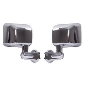 Exterior Accessories - Mirrors - Rugged Ridge - Rugged Ridge Door Mirror Kit, Chrome (2007-15) Jeep Wrangler JK
