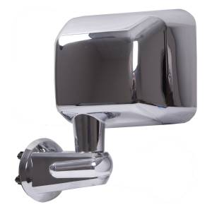 Exterior Accessories - Mirrors - Rugged Ridge - Rugged Ridge Door Mirror, Chrome, Left (2007-15) Jeep Wrangler JK
