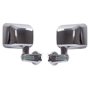 Rugged Ridge Door Mirrors with LED Turn Signals, Chrome (2007-15) Jeep Wrangler JK