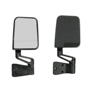 Exterior Accessories - Mirrors - Rugged Ridge - Rugged Ridge Door Mirror Kit, Dual Focus, Black (1987-02) Jeep Wrangler