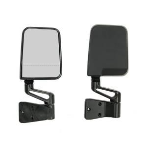 Rugged Ridge Door Mirror Kit, Dual Focus, Black (1987-02) Jeep Wrangler