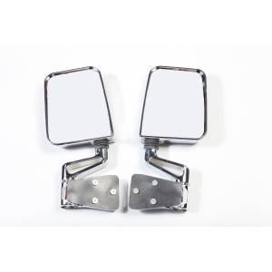 Exterior Accessories - Mirrors - Rugged Ridge - Rugged Ridge Door Mirror Kit, Dual Focus, Chrome (1987-02) Jeep Wrangler