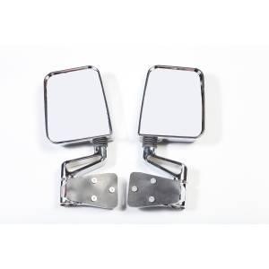 Rugged Ridge Door Mirror Kit, Dual Focus, Chrome (1987-02) Jeep Wrangler