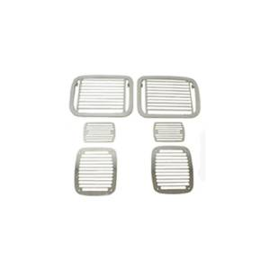 Lighting - Lighting Accessories - Rugged Ridge - Rugged Ridge Stone Guard Set, Billet-Style (1987-95) Jeep Wrangler YJ
