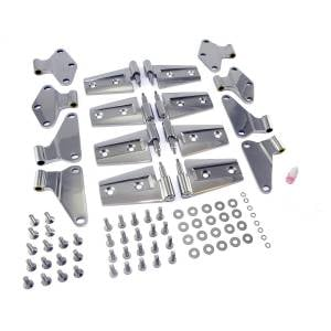 Jeep Doors - Door Accessories - Rugged Ridge - Rugged Ridge Door Hinge Kit, Stainless Steel (2007-15) Jeep Wrangler Unlimited JK