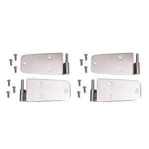 Jeep Doors - Door Accessories - Rugged Ridge - Rugged Ridge Door Hinge Kit, Stainless Steel (1976-93) Jeep CJ/Wrangler YJ