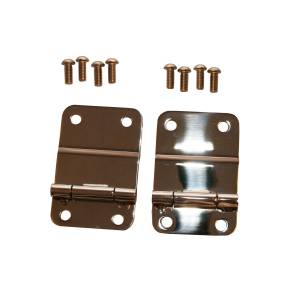 Body Parts - Body Parts Accessories - Rugged Ridge - Rugged Ridge Tailgate Hinges, Stainless Steel (1976-86) Jeep CJ Models