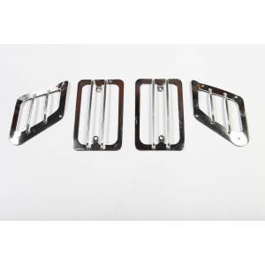 Lighting - Lighting Accessories - Rugged Ridge - Rugged Ridge Euro Guard Set, Stainless Steel (1997-06) Jeep Wrangler TJ