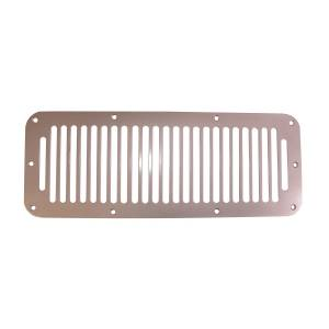 Jeep Body Parts/ Accessories - Rugged Ridge - Rugged Ridge Cowl Vent Cover, Satin Stainless Steel (1978-95) Jeep CJ/Wrangler YJ