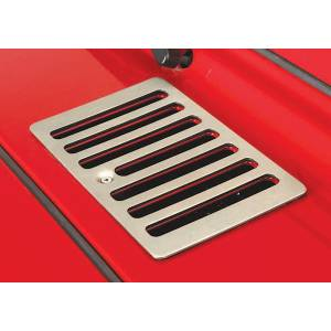 Jeep Body Parts/ Accessories - Rugged Ridge - Rugged Ridge Cowl Vent Cover, Satin Stainless Steel (1998-06) Jeep Wrangler TJ