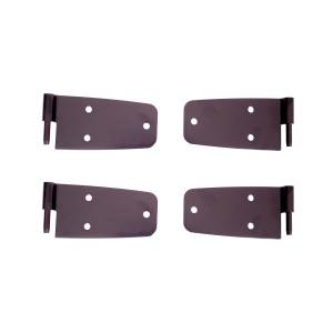 Jeep Doors - Door Accessories - Rugged Ridge - Rugged Ridge Door Hinge Kit, Black (1976-86) Jeep CJ Models