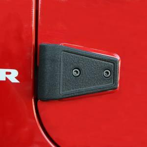 Rugged Ridge Door Hinge Cover Kit, Black (2007-15) Jeep Wrangler Unlimited JK