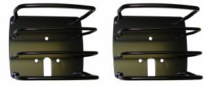 Exterior Accessories - Armor & Protection - Rugged Ridge - Rugged Ridge Euro Tail Light Guards, Black (1976-06) Jeep CJ/Wrangler YJ/TJ
