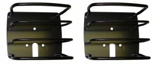 Lighting - Lighting Accessories - Rugged Ridge - Rugged Ridge Euro Tail Light Guards, Black (1976-06) Jeep CJ/Wrangler YJ/TJ