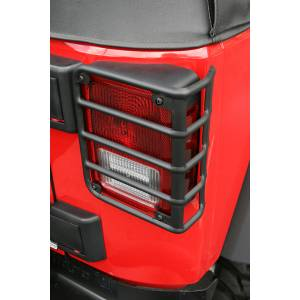 Jeep Tops & Doors - Jeep Body Parts/ Accessories - Rugged Ridge - Rugged Ridge Tail Light Euro Guards, Black (2007-15) Jeep Wrangler JK