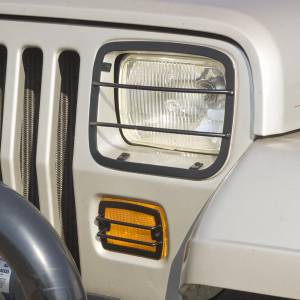 Exterior Accessories - Armor & Protection - Rugged Ridge - Rugged Ridge Euro Guard Set, Headlight and Turn Signal (1987-95) Jeep Wrangler YJ