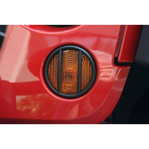 Lighting - Lighting Accessories - Rugged Ridge - Rugged Ridge Euro Guard, Turn Signal, Black (2007-15) Jeep Wrangler JK