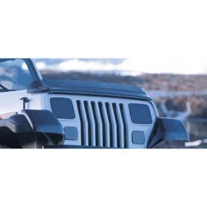Exterior Accessories - Bug Guards/Hood Shields - Rugged Ridge - Rugged Ridge Bug Deflector, Smoke (1987-06) Jeep Wrangler YJ/TJ
