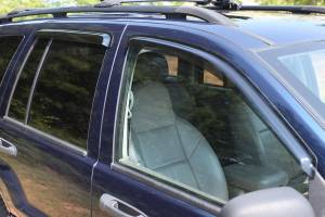 Exterior Accessories - Window Visors/Rain Guards - Rugged Ridge - Rugged Ridge Window Rain Deflectors (1999-04) Jeep Grand Cherokee