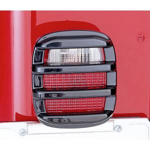Exterior Accessories - Armor & Protection - Rugged Ridge - Rugged Ridge Tail Light Guards, Smoke (1976-06) Jeep CJ/Wrangler YJ/TJ