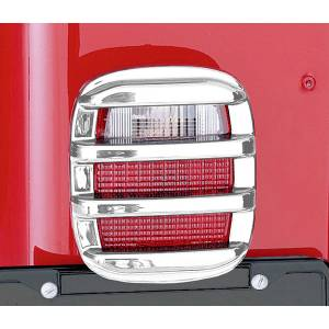 Exterior Accessories - Armor & Protection - Rugged Ridge - Rugged Ridge Tail Light Guards, Chrome (1976-06) Jeep CJ/Wrangler YJ/TJ