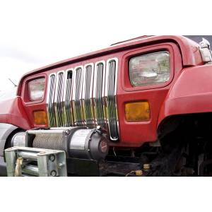 Exterior Accessories - Grilles - Rugged Ridge - Rugged Ridge Billet Grille Inserts, Chrome (1987-95) Jeep Wrangler YJ