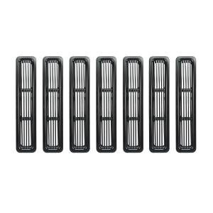 Exterior Accessories - Grilles - Rugged Ridge - Rugged Ridge Billet Grille Inserts, Black (1997-06) Jeep Wrangler TJ