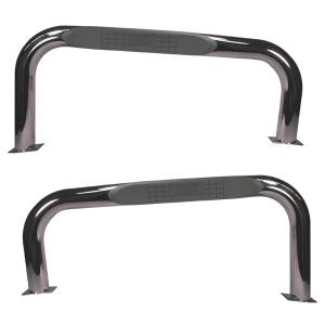 Nerf Bars & Steps - Side Steps - Rugged Ridge - Rugged Ridge Tube Bars, Stainless Steel (1976-83) Jeep CJ Models