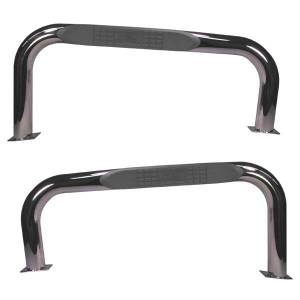 Nerf Bars & Steps - Side Steps - Rugged Ridge - Rugged Ridge Tube Bars, Stainless Steel (1987-06) Jeep Wrangler YJ/TJ