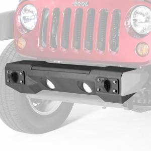 Brush Guards & Bumpers - Modular Bumpers - Rugged Ridge - Rugged Ridge Steel Front Winch Bumper, Aluminum accessories only (2007-15) Wrangler JK