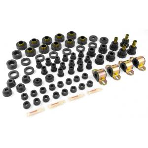 Jeep Body Parts/ Accessories - Rugged Ridge - Rugged Ridge Total Bushing Kit, Black (1980-86) Jeep CJ5/CJ7