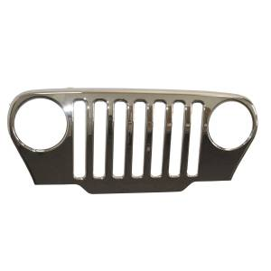 Omix-ADA - Chrome Grille Overlay; 97-06 Jeep Wrangler
