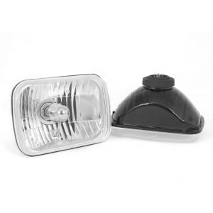Lighting - Headlights/Driving Lamps - Rugged Ridge - Rugged Ridge Crystal H2 Headlights, Rectangular (1987-95) Jeep Wrangler YJ