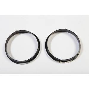 Lighting - Lighting Accessories - Rugged Ridge - Rugged Ridge Black Headlight Bezels (1997-06) Jeep Wrangler TJ