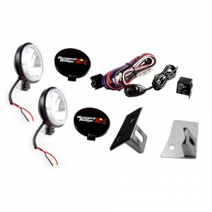 Off-Road Lighting - LED Lights - Rugged Ridge - Rugged Ridge Windshield Light Mount Kit (2007-15) Jeep Wrangler JK