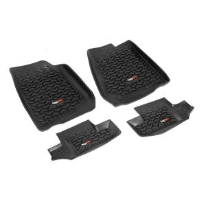 Rugged Ridge - Floor Liners, Kit, Black; 07-15 Jeep Wrangler JK