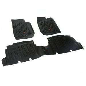 Rugged Ridge - Floor Liners, Kit, Black; 07-15 Jeep Wrangler JK 4-Door