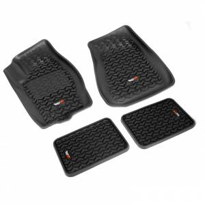 Rugged Ridge - Floor Liners, Kit, Black; 05-10 Jeep Grand Cherokee WK