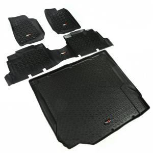 Rugged Ridge - Floor Liners, Kit, Black; 07-10 Jeep 4-Door Wrangler JK