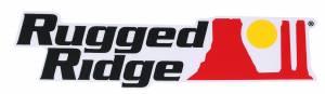 Rugged Ridge Decal, Black Logo