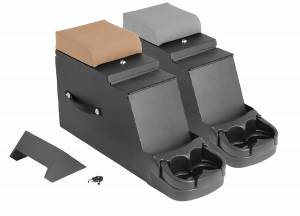 Jeep Body Parts/ Accessories - Rugged Ridge - Rugged Ridge Stereo Security Console, Gray (1976-95) Jeep CJ/Wrangler YJ