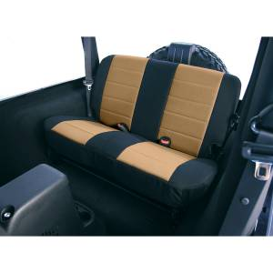 Interior Accessories - Seat Accessories - Rugged Ridge - Rugged Ridge Fabric Rear Seat Covers, Tan (1997-02) Jeep Wrangler TJ