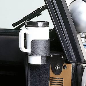 Jeep Body Parts/ Accessories - Rugged Ridge - Rugged Ridge Cup Holder Windshield Mount (1976-95) Jeep CJ/Wrangler YJ