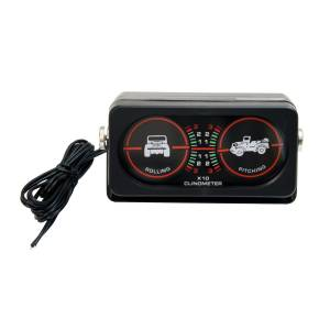 Interior Accessories - Switches and Accessories  - Rugged Ridge - Rugged Ridge Clinometer with Light; Universal