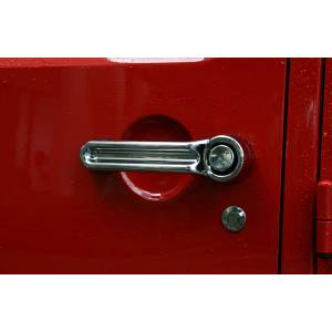 Jeep Doors - Door Accessories - Rugged Ridge - Rugged Ridge Door Handle Cover Kit, Chrome (2007-15) Jeep Wrangler JK