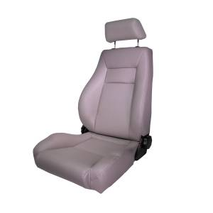 Interior Accessories - Seating - Rugged Ridge - Rugged Ridge Ultra Front Seat, Reclinable, Gray (1976-02) Jeep CJ/Wrangler YJ/TJ