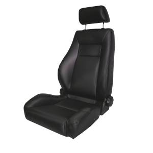 Interior Accessories - Seating - Rugged Ridge - Rugged Ridge Ultra Front Seat, Reclinable, Black Denim (1976-02) CJ/Wrangler YJ/TJ