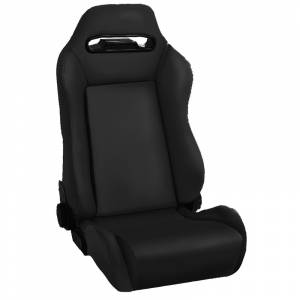 Interior Accessories - Seating - Rugged Ridge - Rugged Ridge Sport Front Seat, Reclinable, Black Denim (1976-02) CJ/Wrangler YJ/TJ