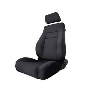Interior Accessories - Seating - Rugged Ridge - Rugged Ridge Ultra Front Seat, Reclinable, Black Denim (1997-06) Jeep Wrangler TJ