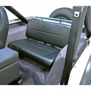 Interior Accessories - Seating - Rugged Ridge - Rugged Ridge Fixed Rear Seat, Black (1955-95) Jeep CJ/Wrangler YJ